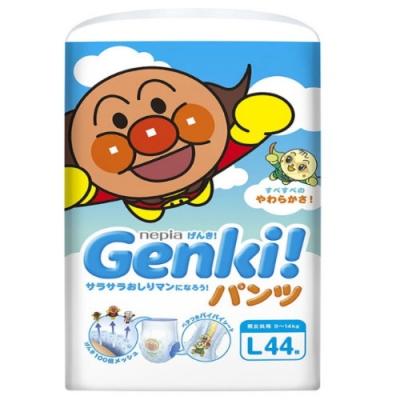 nepia王子 GenKi! ★麵包超人褲型紙尿褲 L44【日本境內限定款】