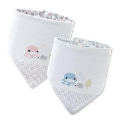 KUKU酷咕鴨 竹纖有機棉格紋三角領巾